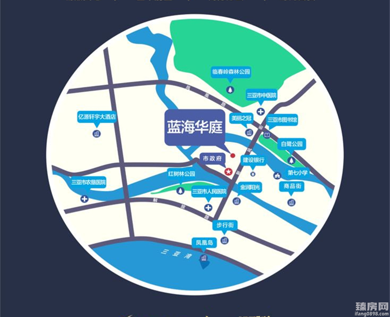 蓝海华庭区位图