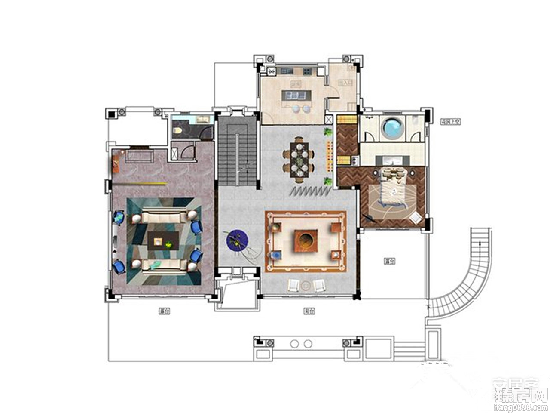 6室5厅7卫约556㎡