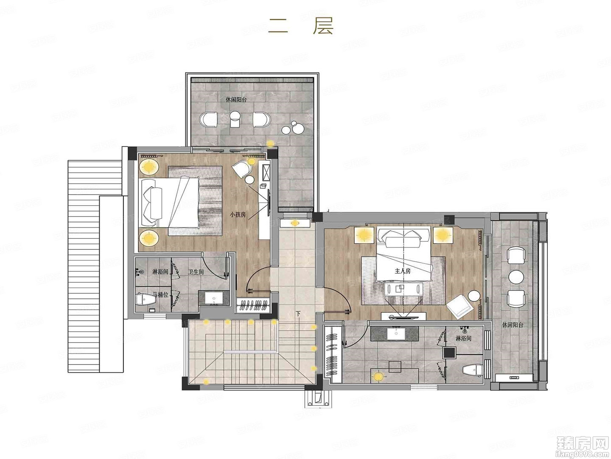 5室2厅6卫约222㎡